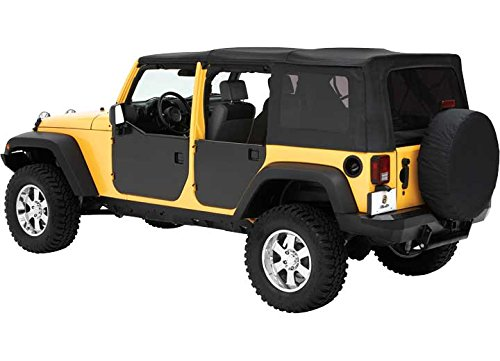 Bestop 51803-01 Black HighRock 4X4 Element Door Enclosure Kit for 2007-2018 Wrangler JK 2-Door - Front
