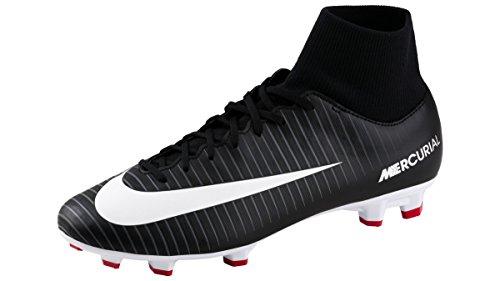 Nike Fußballschuhe Mercurial Victory VI Dynamic Fit FG, Schuhgröße:US 9.5 EU 43, Farbe:002 black/white-black
