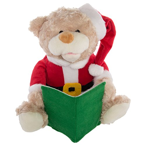 Simply Genius Talking Teddy Bear Toy Animated Plush Stuffed Animal Christmas Kid Holiday Décor