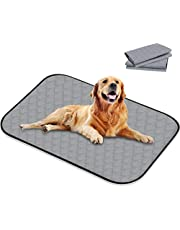 """Washable Pee Pads for Dogs, 39.3"""" x 26.7"""" 4 Layers Design with Anti-Skid Bottom Wee Wee Pads/Training Reusable Kennel Mat/Dog Training Pads, 2pcs"""