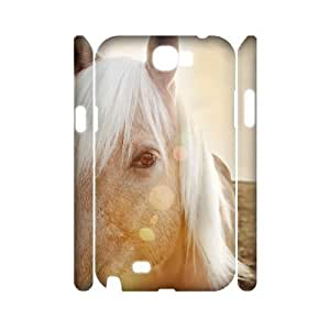 Horse Running Custom 3D Cover Case for Samsung Galaxy Note 2 N7100,diy phone case ygtg522035