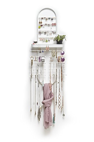 Umbra Valerina Over-The-Door Jewelry Organizer, White