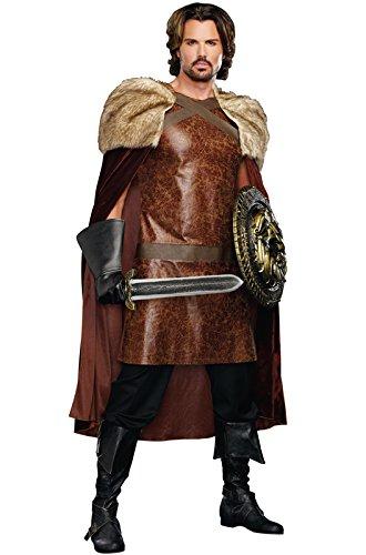 Dreamgirl Men's Dragon Warrior King, Brown, Medium