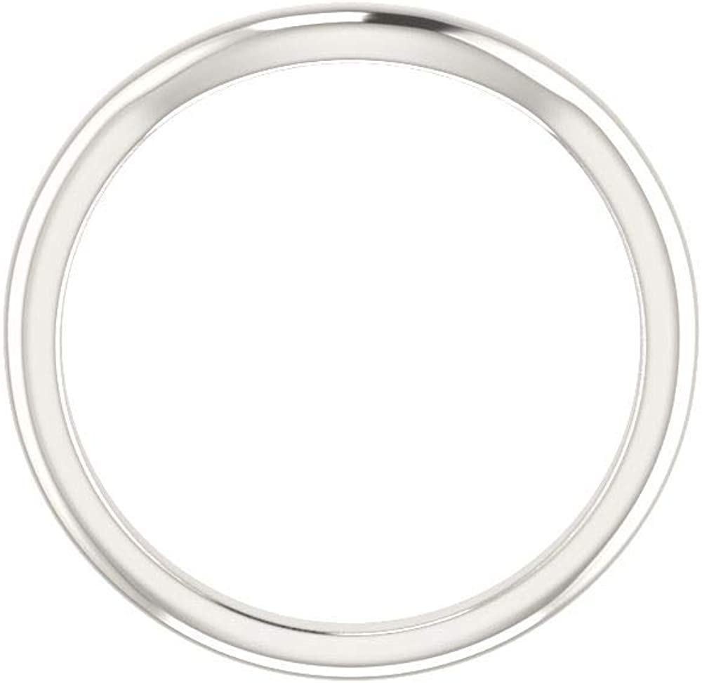 Bonyak Jewelry Sterling Silver Band for 10 mm Round Ring Size 7