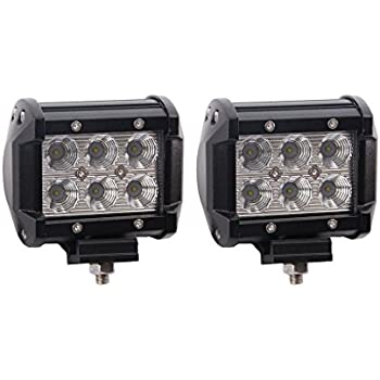 Led Light Bar, Lumitek 2PCS 4inch 18W Flood CREE 6000K Led Lights 1500LM Off-road lights Led Pods IP67 Waterproof Fog Lights Driving Lights for Pickup Jeep Trucks SUV UTV Tanks 4WD Van Camper ATV…