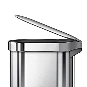 simplehuman Slim Step Can Brushed Stainless Steel, 45 Liter/12 Gallon