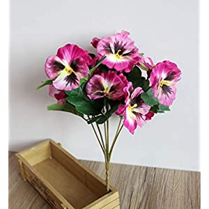 BAJI Artificial Flower 5 Fork Pansy Creative Home furnishes Silk Flower Artificial Flower Simulation Flower Simulation Plant 74