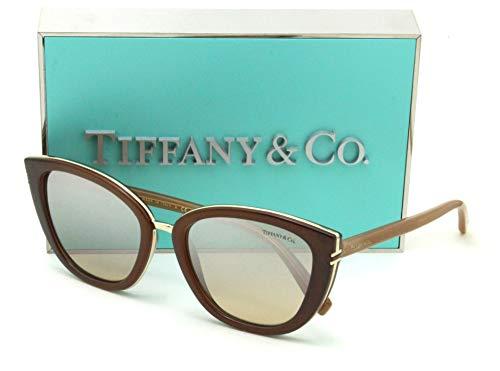 Tiffany & Co. TF 4152 Brown Mirror Gradient Cat-Eye Sunglasses for Women ()