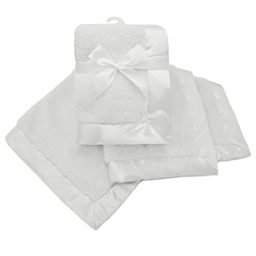 American Baby Company Sherpa Receiving Blanket, White, for B