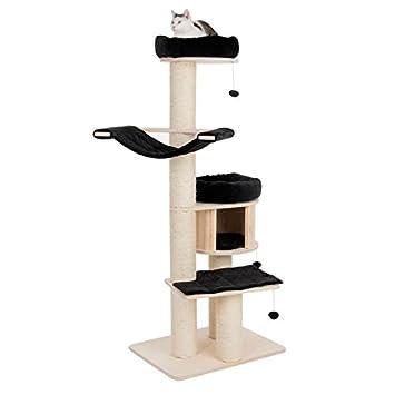 Rascador para gatos XL con paneles de madera de Aziende Boot sostenibili, columnas con diámetro 15 ...