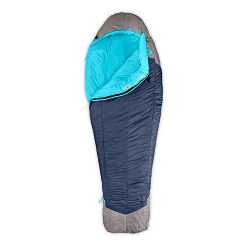 The North Face Cat's Meow 20 Sleeping Bag - Women's Right Hand Zip Blue Coral/Zinc Grey Long