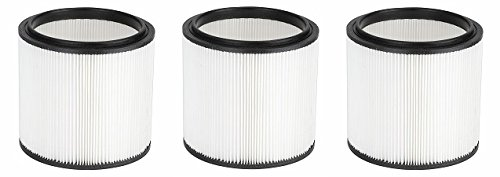 Vacmaster HEPA Material Fine Dust Cartridge Filter & Retainer, VCFH (3-(Pack))