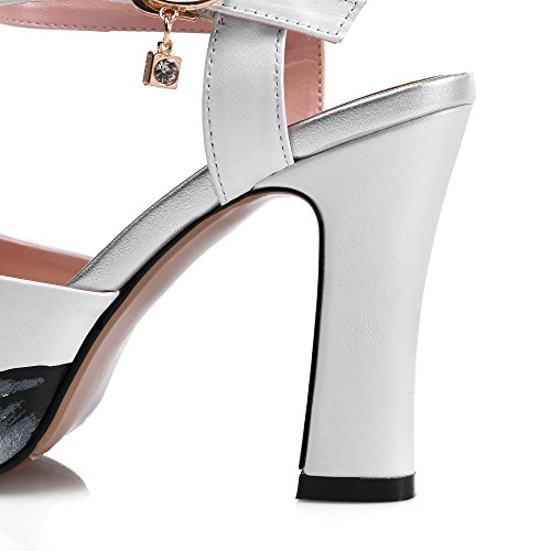 Chunky Heels Womens Heeled Pleather Sandals White Platform 1TO9 MJS02717 1wHdq5xwE