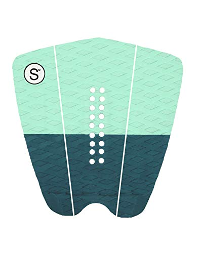 Green Pad Traction - SYMPL Surfboard Traction Pad • 3 Pieces • Maximum Grip, 3M Adhesive for Surfboard, Skimboard, Longboard [ Mint Green ]