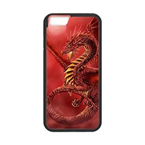 "QNMLGB Hard Plastic of Red Dragon Cover Phone Case For iPhone 6 (4.7"") [Pattern-1]"