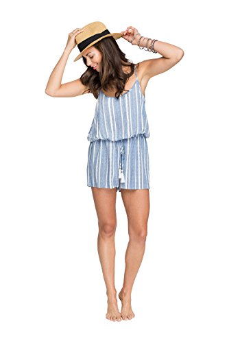 Hawaiian Tropic Drawstring Romper Stripe
