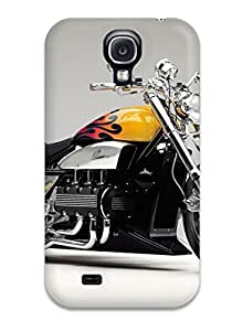 ElsieJM Scratch-free Phone Case For Galaxy S4- Retail Packaging - Chopper 8211 Motorcycles