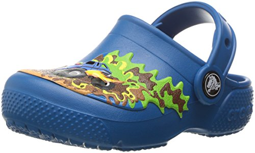 Crocs Kids' Fun Lab Boys Graphic Clog, Monster Truck/Ultramarine, 5 M US Toddler (Best Monster Truck Venues)