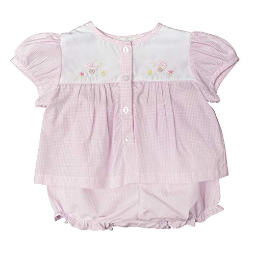 - Carriage Boutique Baby Girl 2pc. Diaper Set w Matching Hat - Pink Gingham (3M)
