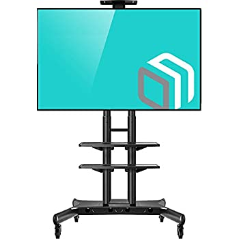 amazon com universal mobile tv cart tv stand with wheels for 60