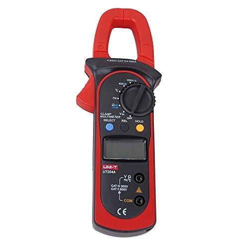 UNI-T UT204A Digital Handheld Clamp Multimeter Tester DMM Voltmeter Amp AC DC (Unit Clamp Digital)