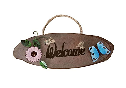 Cheap Shop Door Home Wall Decor Decorative Sign Wood Welcome Sign(Butterfly)