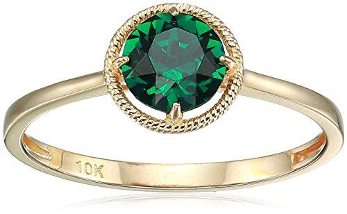 10k Gold Swarovski Crystal May Birthstone Ring, Size 8 (Gold Crystal 10k)
