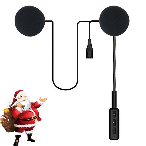 ESoku Bluetooth Headset Earphone Motorcycle Wireless Helmet Headphones Compatible with iPhone and Android OS for Motorbike or Skiing