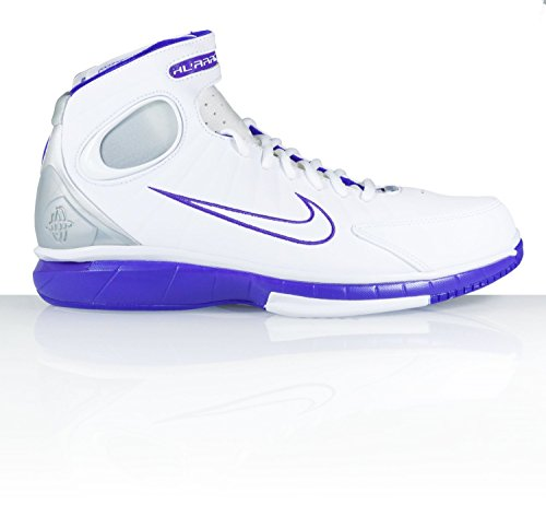 (NIKE AIR ZOOM HUARACHE 2K4 BASKETBALL SHOES WHITE SILVER PURE PURPLE 511425 115)