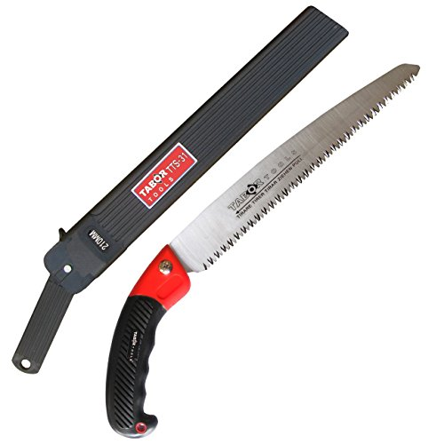 TABOR TOOLS Pruning Saw with Sheath For Trimming Tree Branches & Clearing Forest Trails, 8