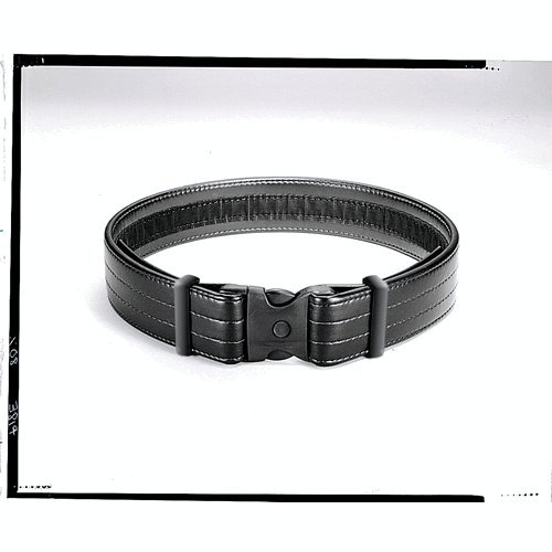 Uncle Mike's Law Enforcement Mirage Plain Ultra Duty Belts  (Small, Black)