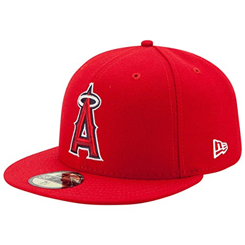 New Era 59FIFTY New Era Los Angeles Angels of Anaheim MLB 2017 Authentic Collection On Field Game Cap Size 7 (Angels Baseball Hat)