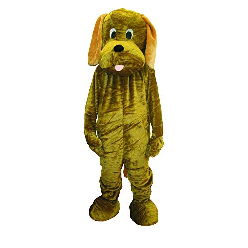 Dress Up America Puppy Dog Mascot, Brown, One Size ()