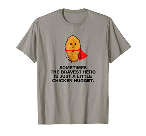 Funny Superhero chicken nugget T-Shirt Chicken nuggets shirt