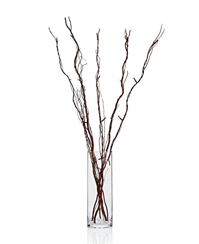 Holiday Lane Set of 5 Battery Operated LED 40-in Natural Brown Willow Tree - Willow Branches Tree
