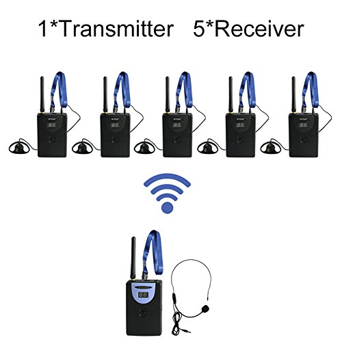 Professional TP-Wireless Tour Guide System for Tour Guiding, Teaching, Travel, Simultaneous Translation,Meeting, Museum Visiting(1 Transmitter 5 Receivers) by TP-WIRELESS (Image #9)