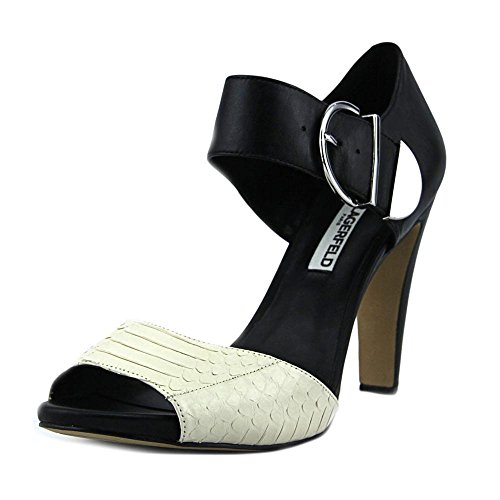 Ankle Paris Heels Black Lagerfeld Womens Karl Off White Leather Cherina Cone gFfxPw