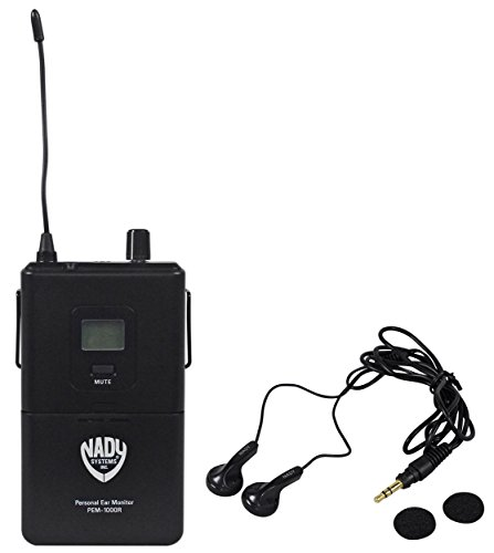 Nady PEM-1000R Portable Bodypack Receiver for PEM-1000 Wireless Monitor System With Auto-Scan And IR Sync - Nady In Ear Receivers