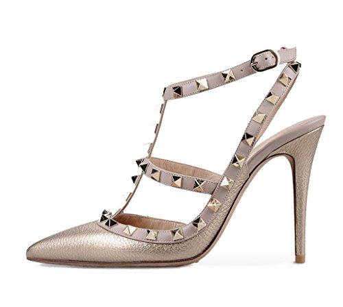 Con Metallic Cinturino Q Amy Donna Alla Scarpe Caviglia EHwxzFqS