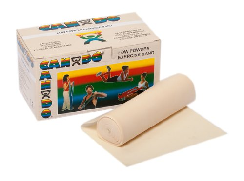 FEI 10-5210 Can-Do Low Powder Exercise Band, 6 yd. Roll, XX-Light, Tan