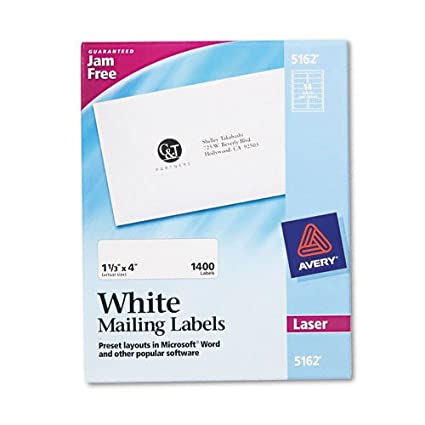 Amazon.com : AVE5162 - Avery Easy Peel Laser Address Labels ...