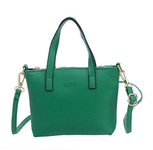 Tongshi Bolso de las mujeres de moda bolso monedero grande de asas de las señoras Verde