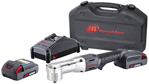 Ingersoll Rand W5330-K22 Right Angle Impactool Kit with 2 Batteries, Charger, and Case, - Ingersoll Case Rand