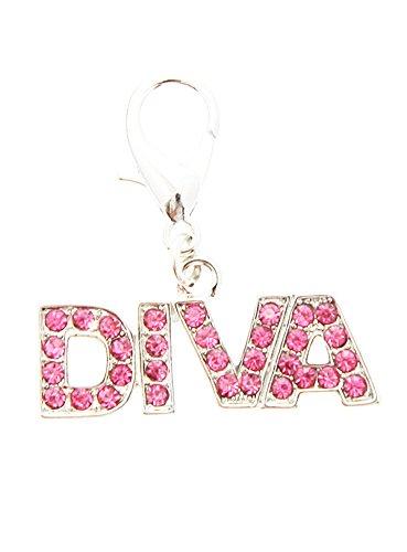 UrbanPup Swarovski ''Diva'' Dog Collar Charm (Pink Crystals)
