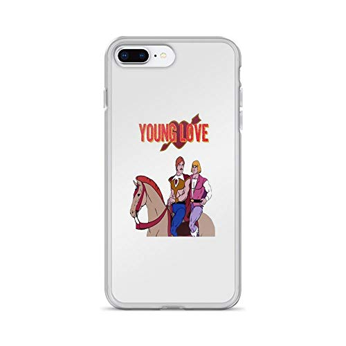 iPhone 7 Plus/iPhone 8 Plus Case Clear Anti-Scratch Young Love (He-Man and Bow), he Man and The Masters of The Universe Cover Phone Cases for iPhone 7 Plus iPhone 8 Plus