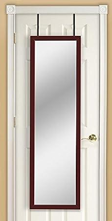 Mirrotek Door Hanging Mirror, 14 x 42, White DM1442WT