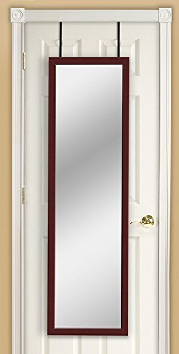 Mirrotek DM1448CH Over The Door Mirror, Cherry