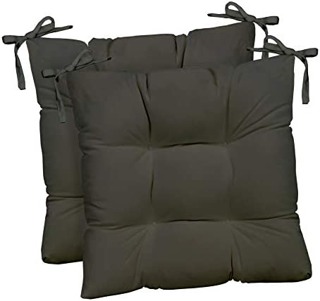 RSH D cor Indoor Outdoor Set of 2 Tufted Dining Chair Seat Cushions