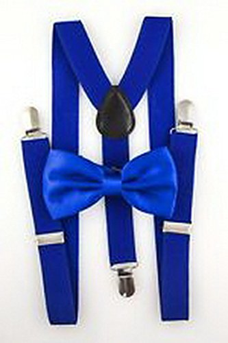 Scott Allah design - Mens Accessories Royal Blue Youth Mens Bow Tie Suspender Set Novelty Classic (Midnight In Paris Costume Ideas)