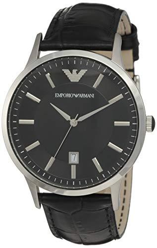 Emporio Armani Men's AR2411 Dress Black Leather Watch